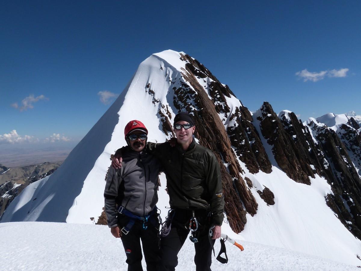 Bergsteigen am Paso Mullu