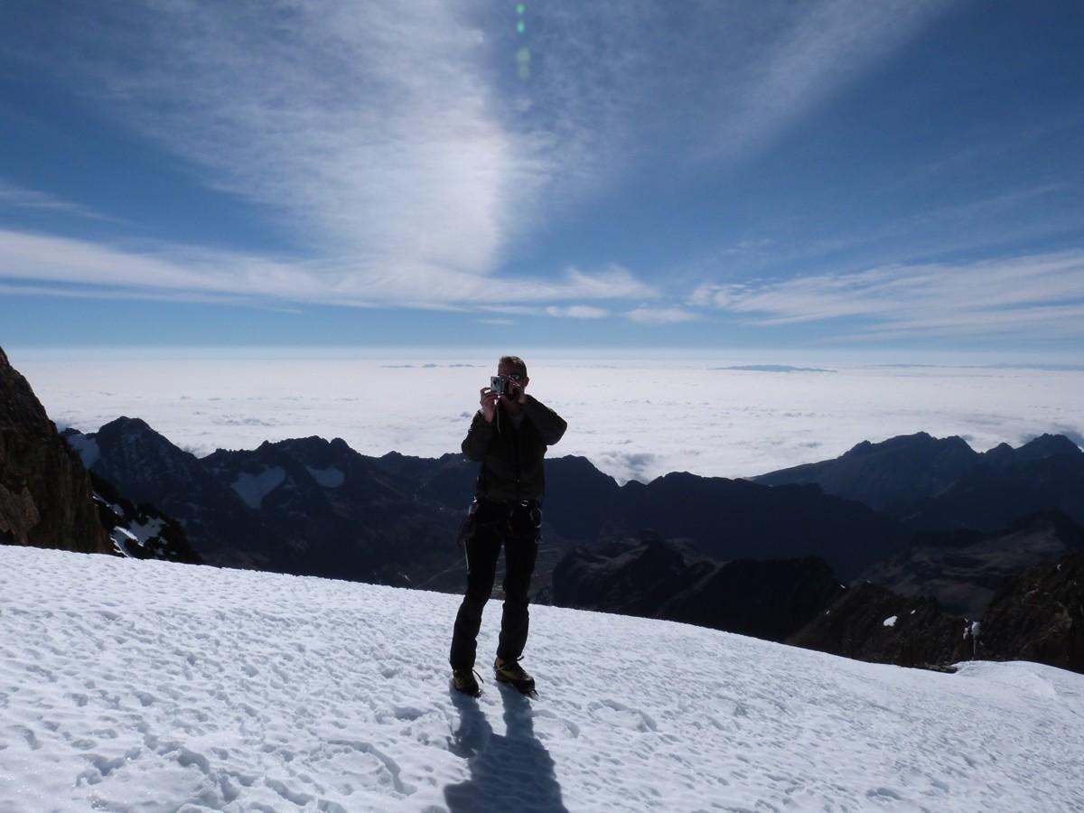 Bergsteigen in der Quimsa Cruz